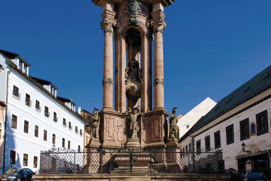 Colonne de la grande peste sur la place de la Sainte-Trinité. (© PHB.cz - Fotolia))