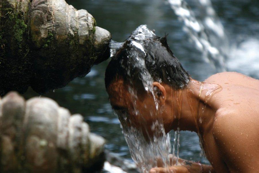 Purification dans les eaux sacrées de Tirta Empul. (© Stéphan SZEREMETA))