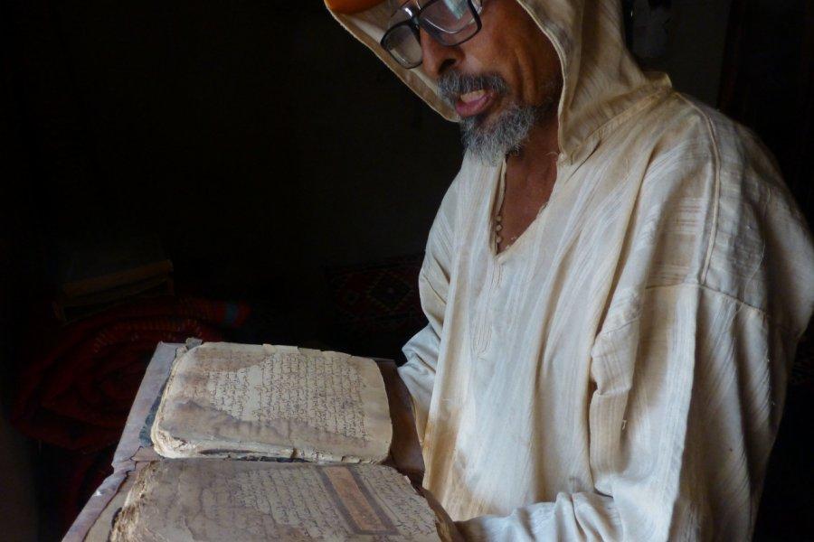 Mohamed, gardien des manuscrits à Ouadane. (© François JANNE DOTHEE))