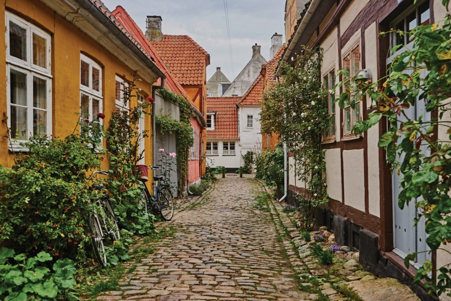 Les petites rues pavées d'Helsingor (© Joshua Tindall))