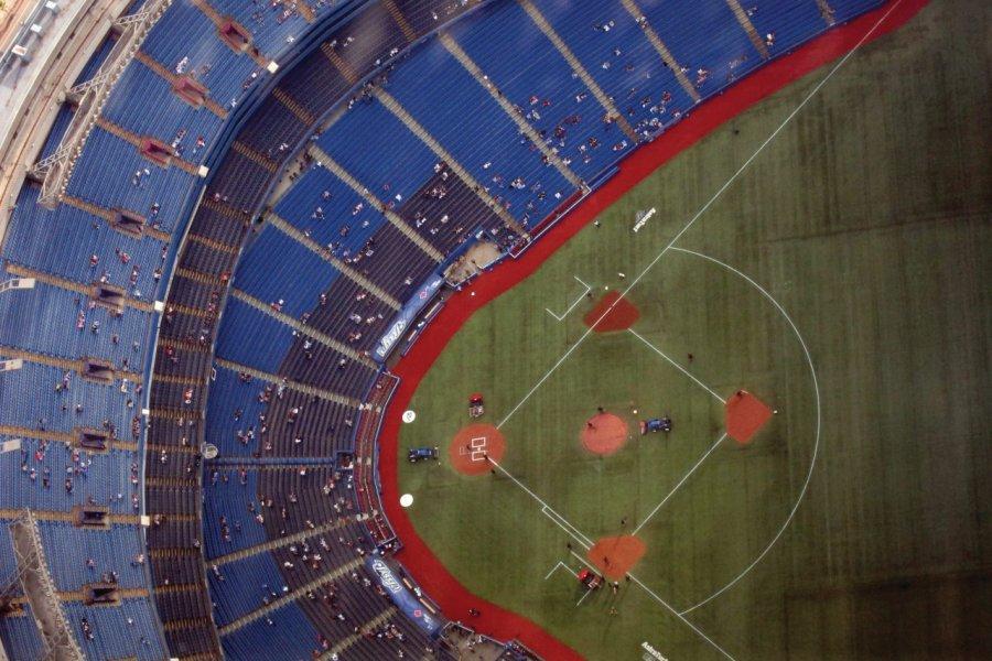 Match de baseball au Rogers Centre. (© Stéphan SZEREMETA))