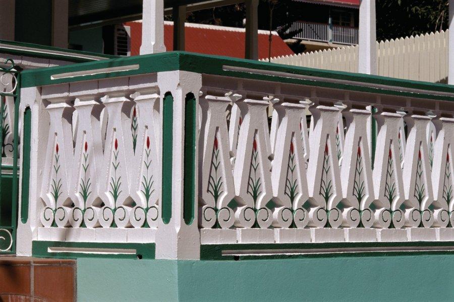 À Corossol, on décore même les balcons. (© Author's Image))