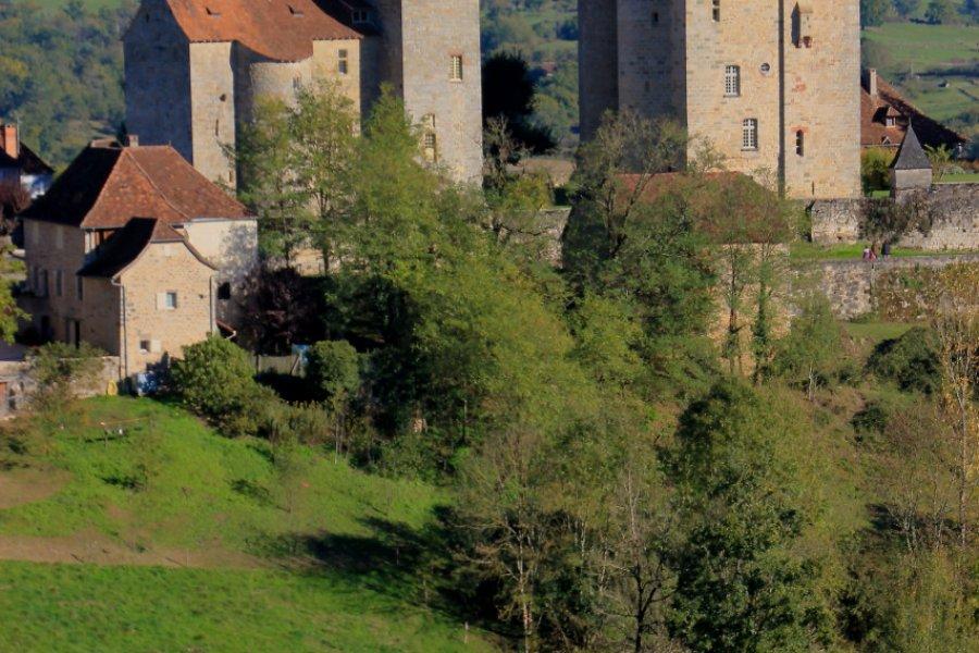 Le château Saint-Hilaire, édifié à la fin de la guerre de Cent Ans, Curemonte. (© capude1957 - stock.adobe.com))