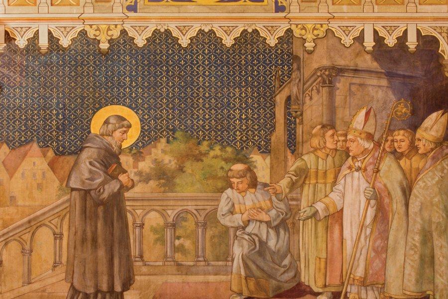 Peinture dans l'eglise de Saint-Nicolas, Trnava. (© sedmak))