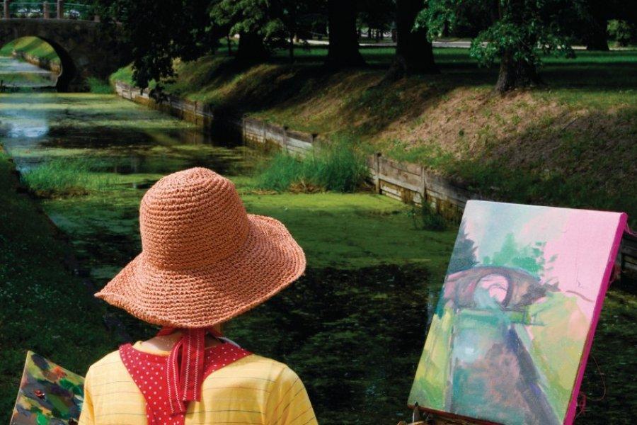 Peintre au palais de Rundāle. (© Serge OLIVIER - Author's Image))