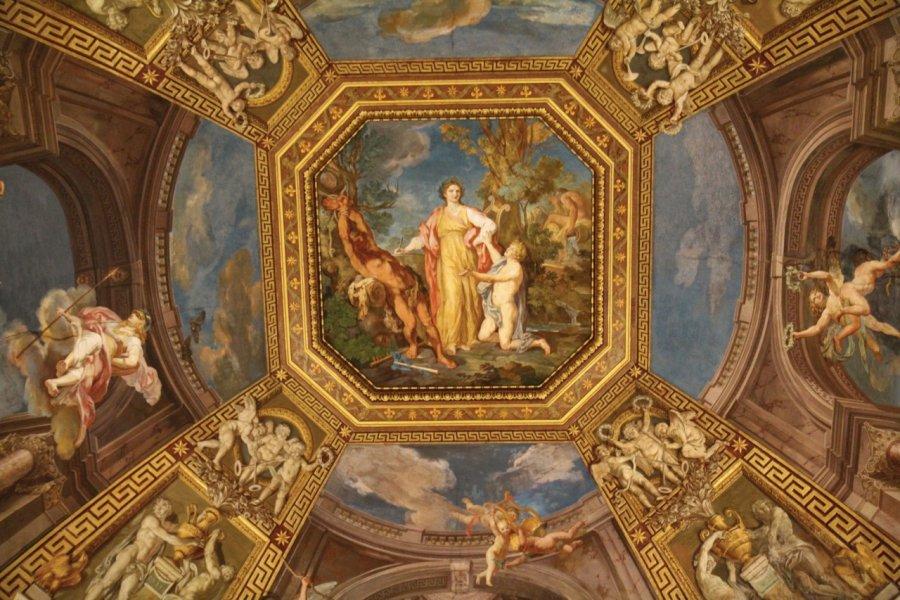 Plafonds dans le musée Pio-Clementino. (© Stéphan SZEREMETA))