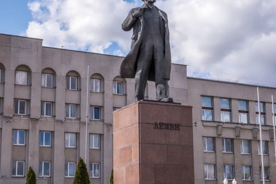 Statue de Lénine, Hrodna. (© Krakozawr))
