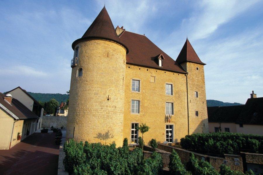 Le château Pécauld, abritant le Musée de la Vigne et et du Vin - Arbois (© PIERRE DELAGUÉRARD - ICONOTEC))