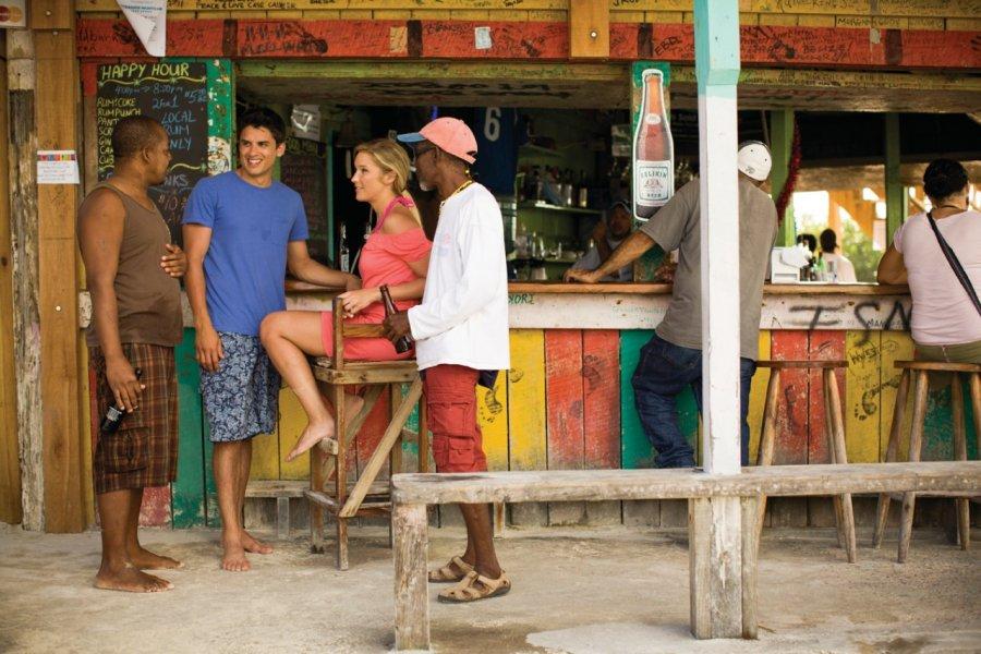 Rencontres à Caye Caulker. (© Belize Tourism Board))