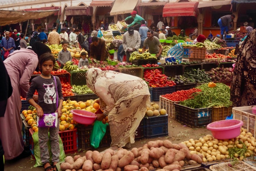 Le marché de Tiznit, coloré et bien fourni. (© Elisa Vallon))