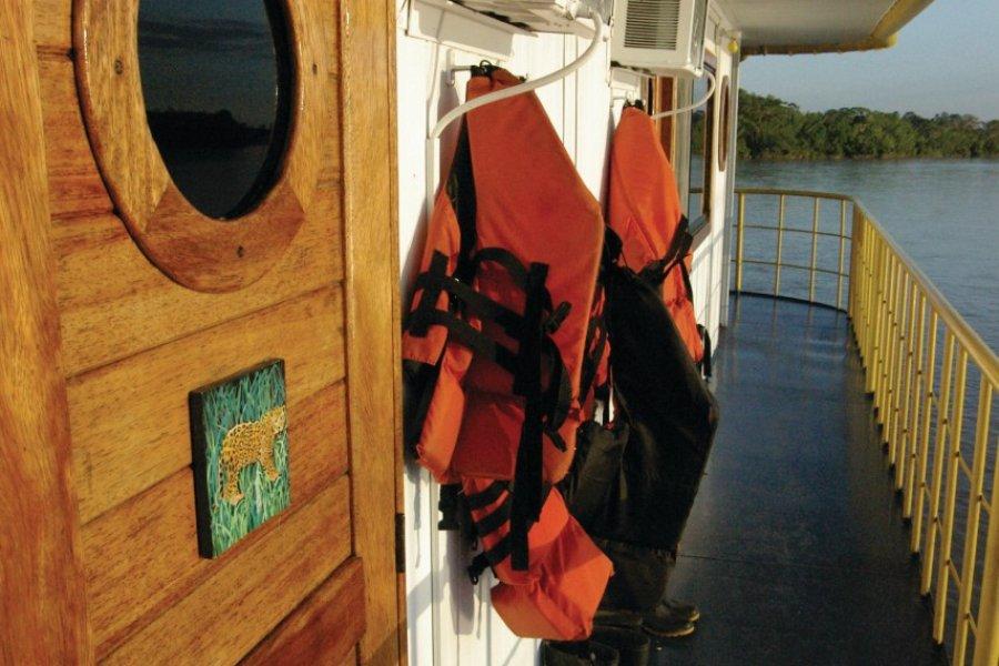 À bord du Manatee Amazone Explorer. (© Stéphan SZEREMETA))