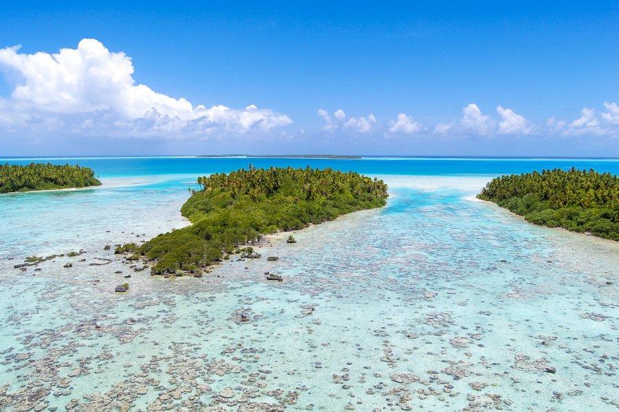 Paysage idyllique de l'atoll de Tetiaroa. (© Xavier Hoenner - Shutterstock.com))