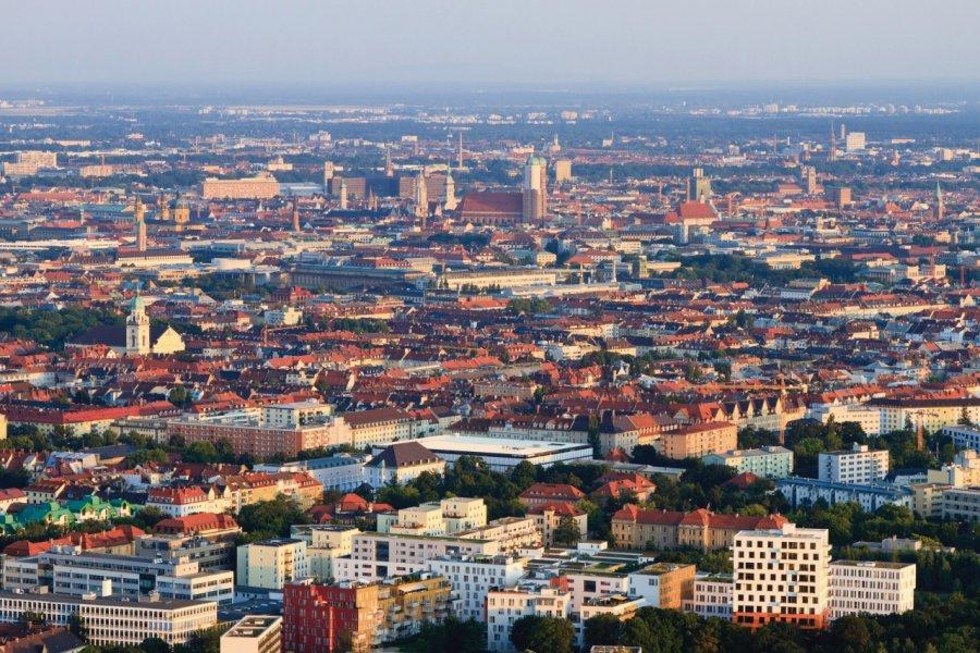 Munich vue depuis l'Olympiaturm. (© Lawrence BANAHAN - Author's Image))