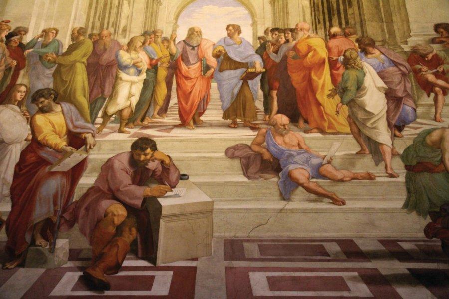 Chambre de la Signature, l'une des chambres de Raphaël, musées du Vatican. (© Stéphan SZEREMETA))