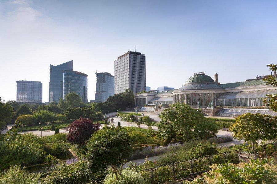 Vue sur le Quartier européen de puis le Jardin botanique. (© Aragami12345s / Shutterstock.com))