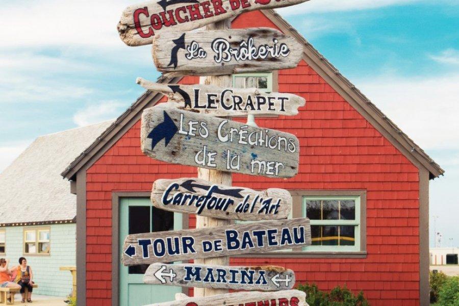 Signalétique à Saint John. (© Tourisme Nouveau-Brunswick))