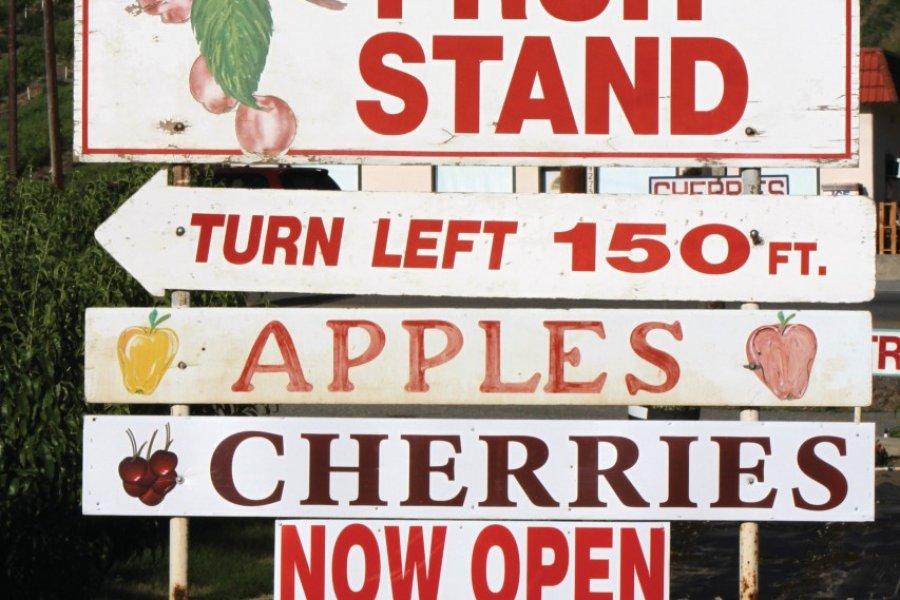La vallée de l'Okanagan offre des températures idéales pour la production de nombreux fruits. (© Stéphan SZEREMETA))