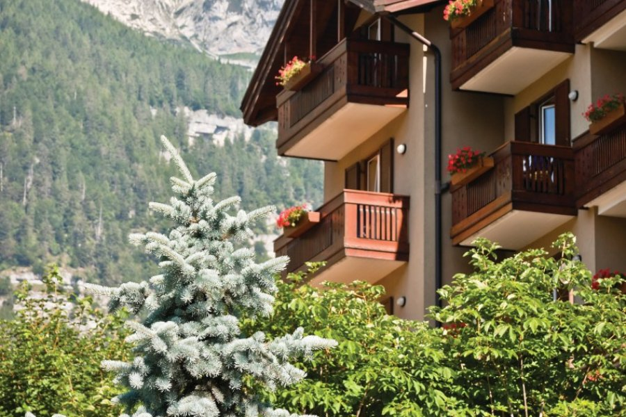 Architecture typiquement alpine, ici dans le Trentin. (© Giorgio Magini - iStockphoto))