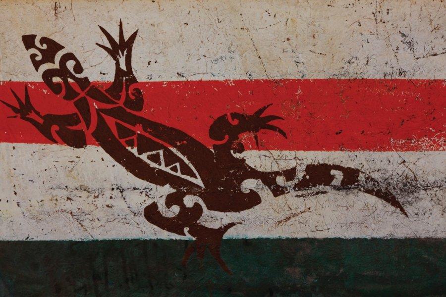 Peinture murale représentant un lézard. (© Julien HARDY - Author's Image))