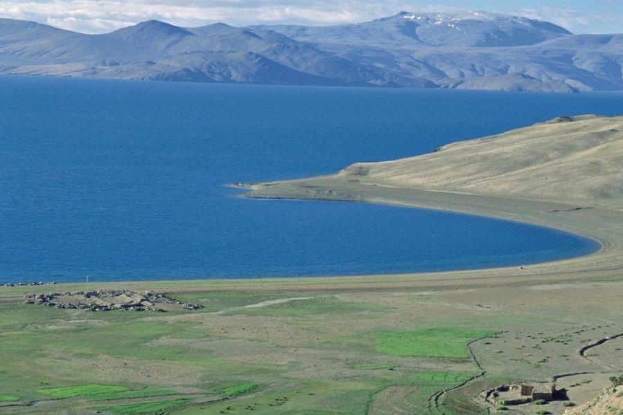 Plateaux du Changtang au lac Tsomoriri. (© Eric Martin - Iconotec))