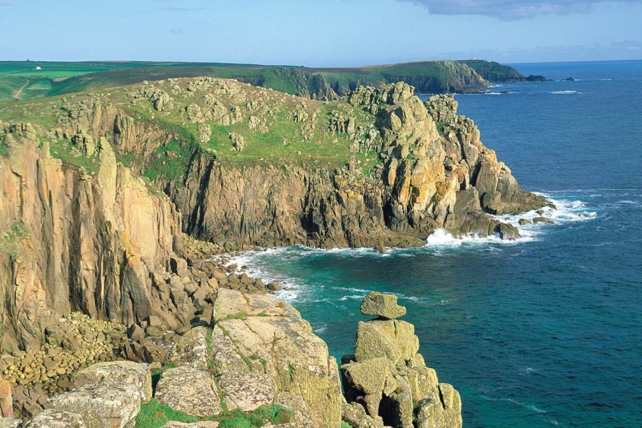 Land's end, le point le plus à l'ouest de l'Angleterre. (© Alamer - Iconotec))