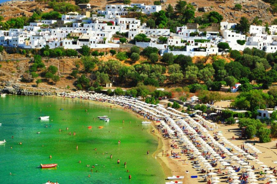 Plage de Lindos, Rhodes. (© Freesurf))