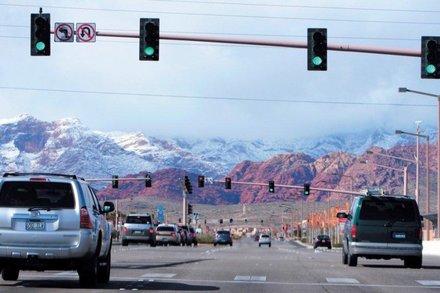 A l'ouest de Las Vegas, le Red Rock Canyon est un parc de 1000 km2. (© Stéphan SZEREMETA))