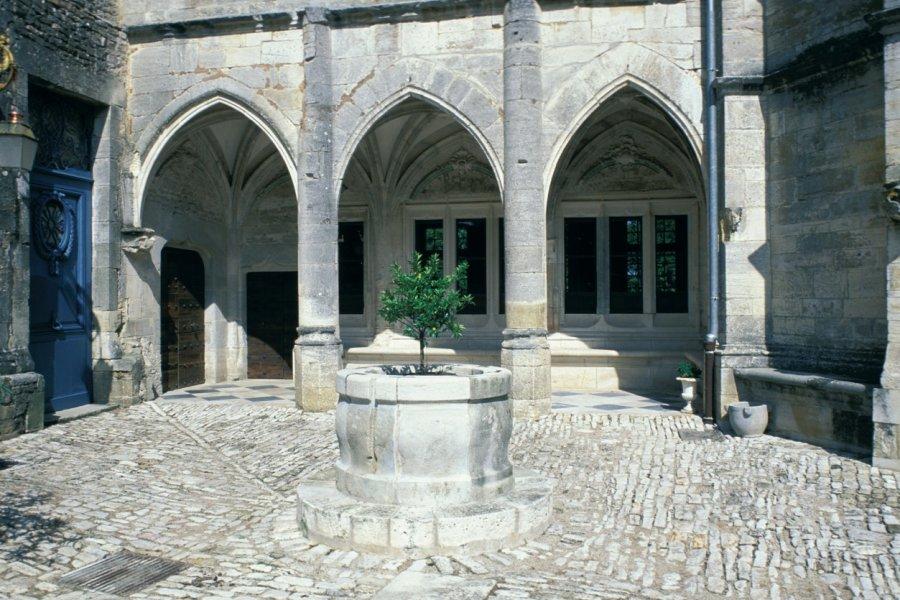 Dans la cour du château de Gy (© ICONOTEC.COM))