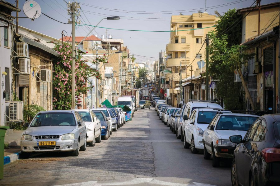 Rue du quartier de Florentin. (© Guy Yechiely / Tel Aviv Global & Tourism))