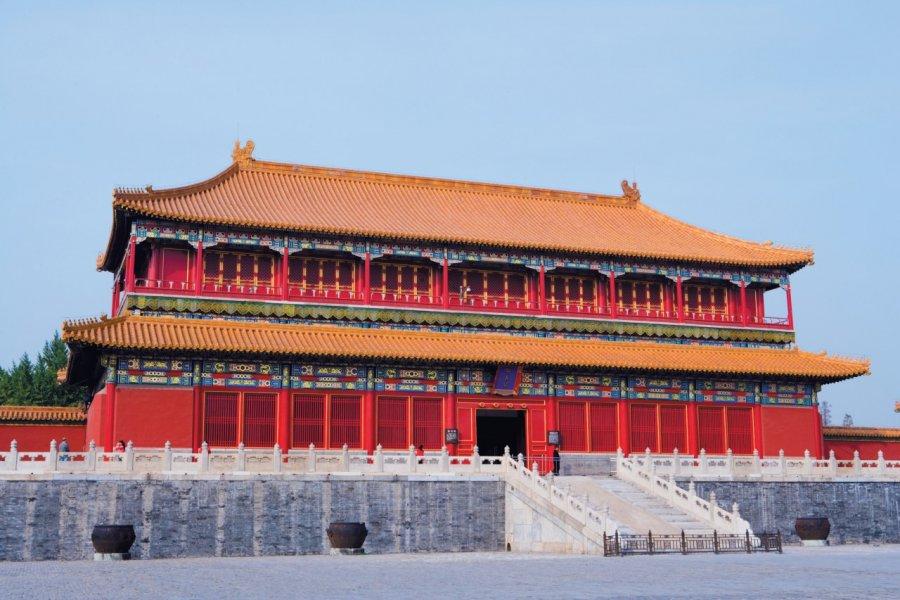 La Cité Interdite - Porte de la Droiture (Duanmen) - Cour du palais de l'Harmonie suprême (Taihemen). (© Author's Image))
