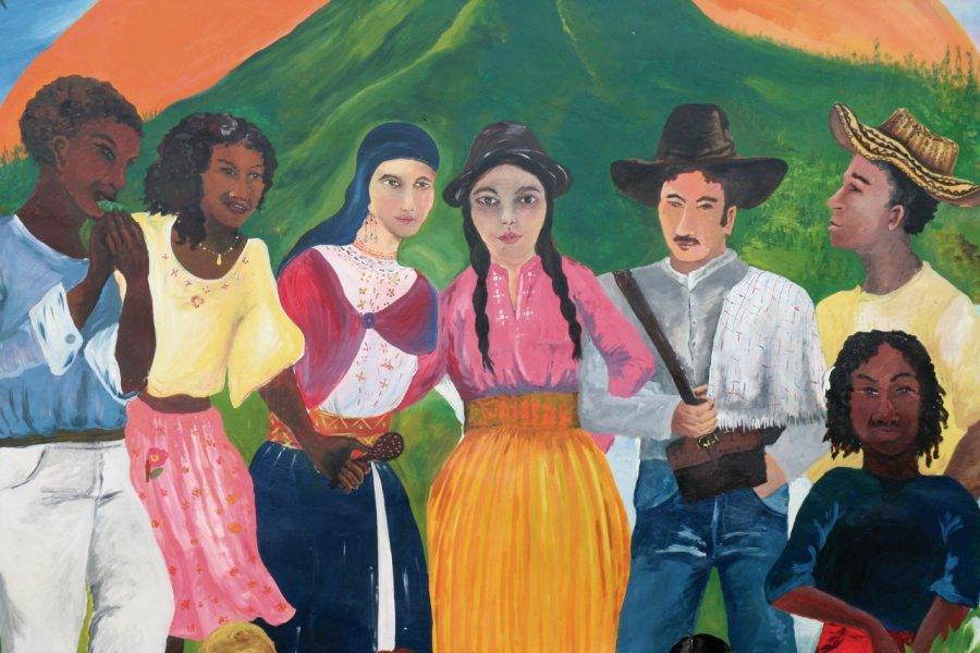Fresque sur la fraternité équatorienne. (© Stéphan SZEREMETA))