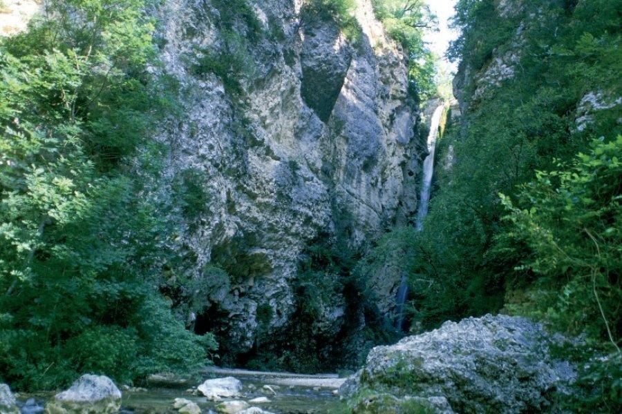 La Gervanne dans les gorges d'Omblèze (© PHOVOIR))