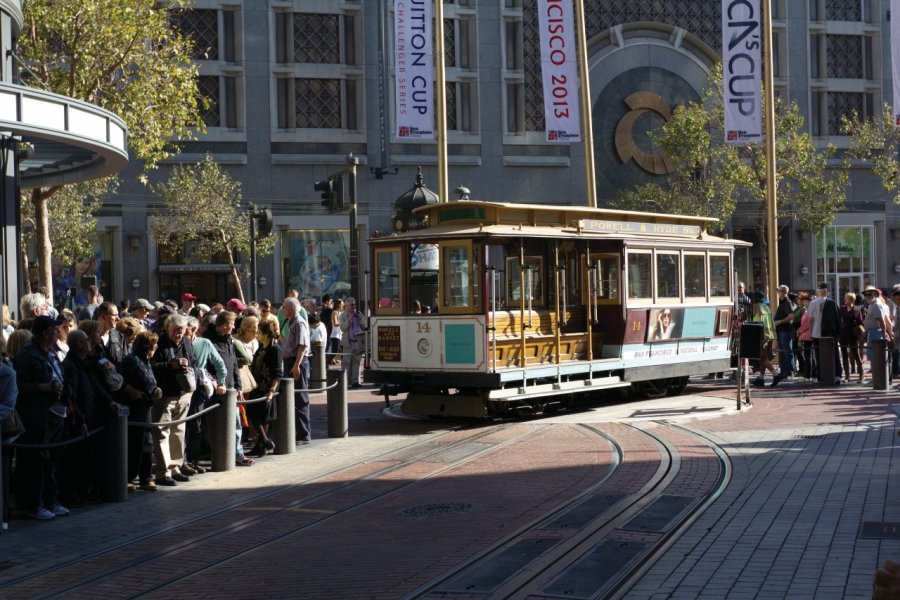 Tramway dans les rues de San Francisco. (© David GUERSAN - Author's Image))