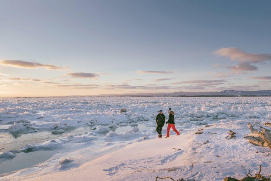 Le Saint-Laurent sous la glace à Berthier-sur-Mer. (© Stéphanie Allard))