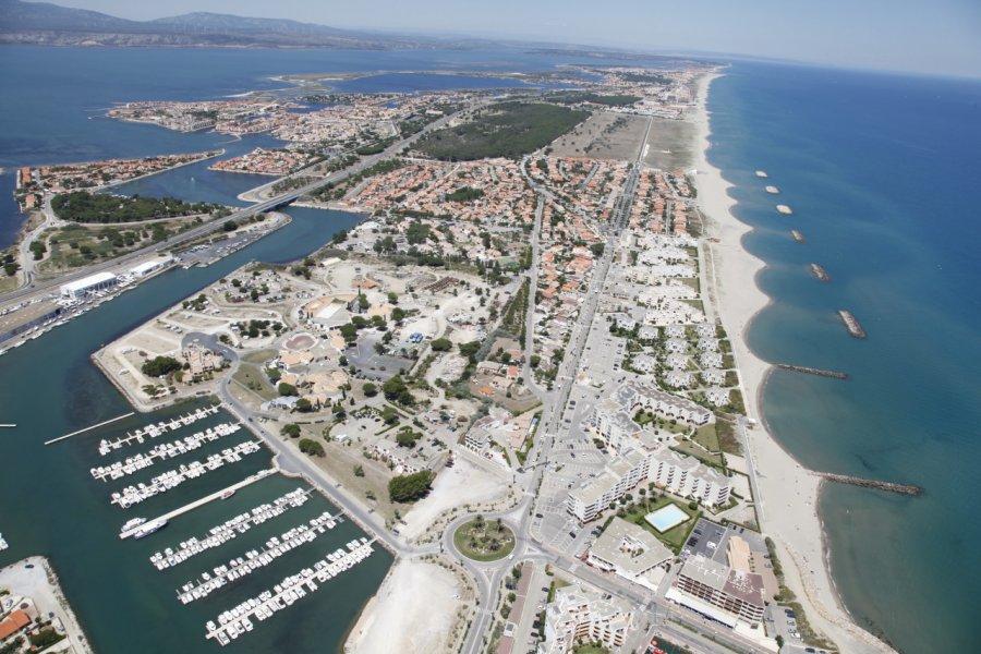 Vue aérienne du Port Barcarès. (© Mairie de Barcarès))