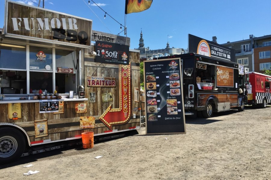 Food trucks au BBQ Fest de Québec. (© Valérie FORTIER))