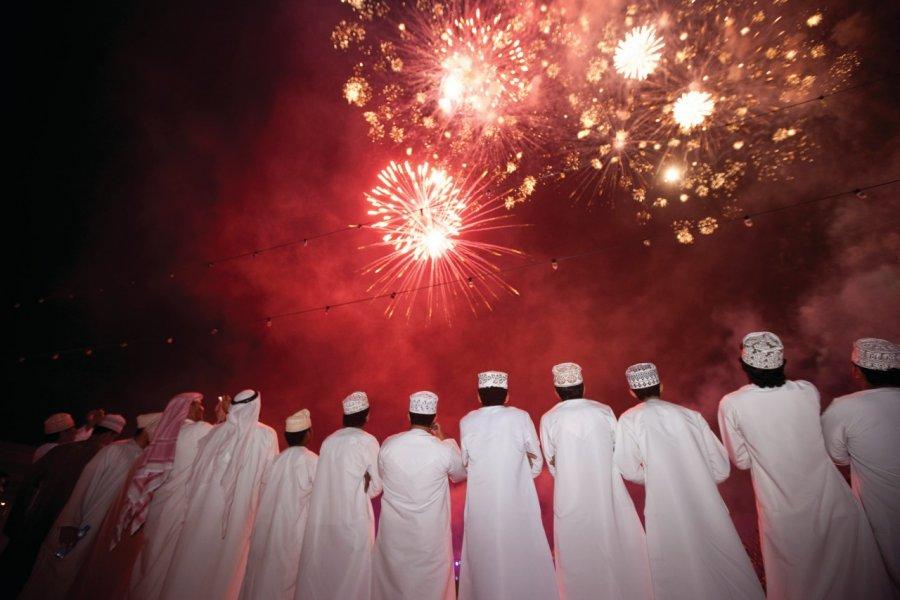 Feu d'artifice lors du Festival de Mascate. (© Lloyd Images : Muscat Municipality))