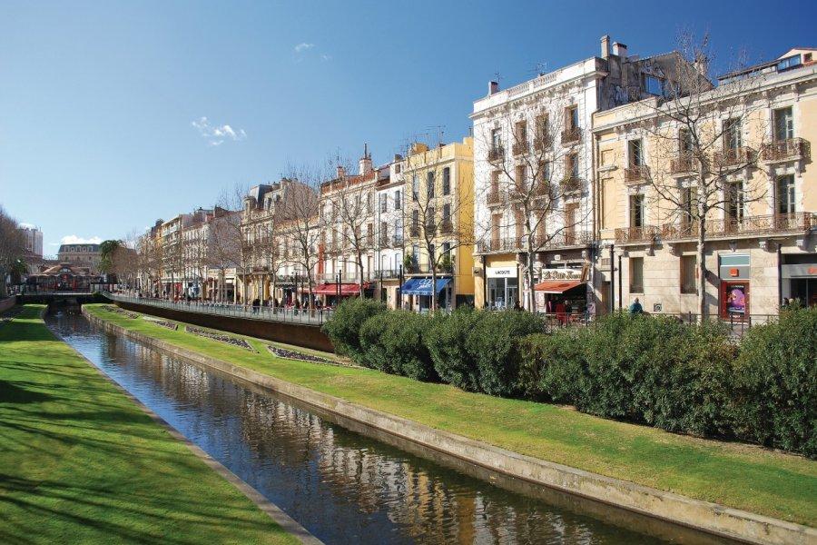 Le quai Vauban à Perpignan (© Yvann K - Fotolia))