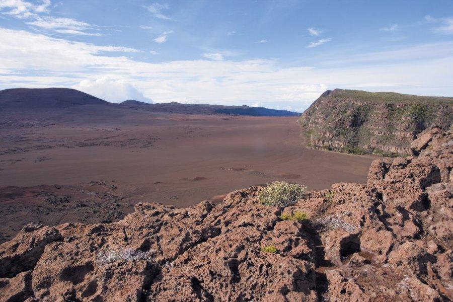 La plaine des Sables est l'ancienne caldeira du volcan. (© Author's Image))