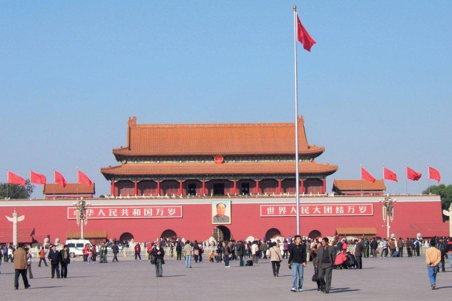 Place Tian'Anmen, porte de la Paix céleste. (© Stéphan SZEREMETA))