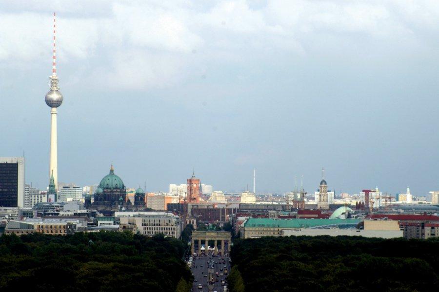 Vue sur Berlin depuis la colonne de Siegessaüle (© Stéphan SZEREMETA))