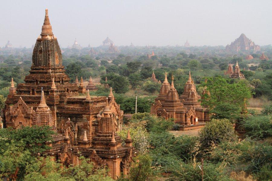 Le site de Bagan constitué de quelque 2000 fondations religieuses étendues sur plus de 40 km2. (© Stéphan SZEREMETA))