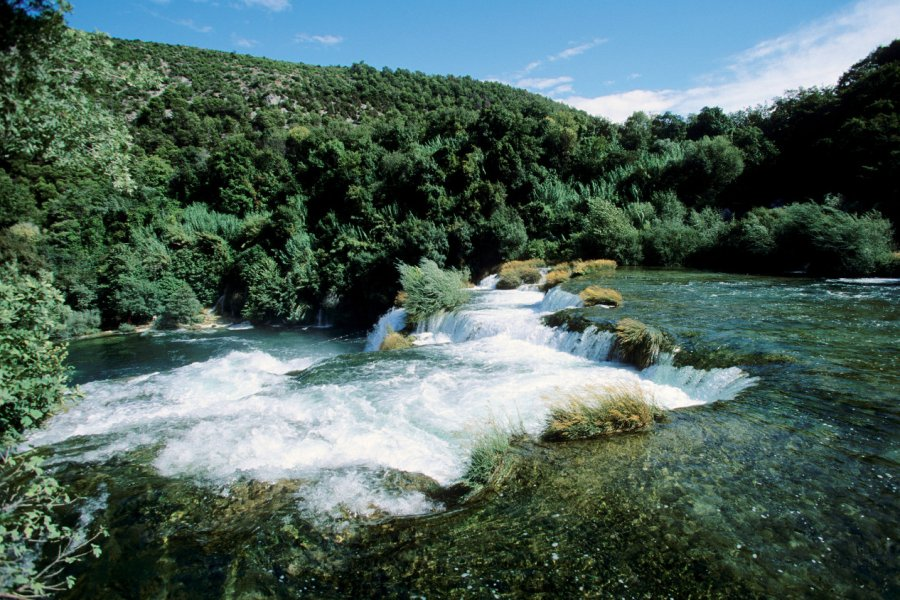 Cascade Skradin dans le parc national de Krka. (© Author's Image))