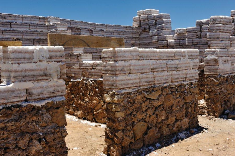 Construction en parpaings de sel. (© Patrice ALCARAS))
