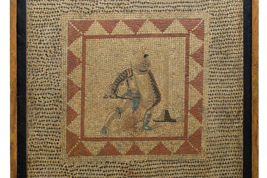 Mosaique au gladiateur. (© B. Mahuet, Musées de Mâcon))