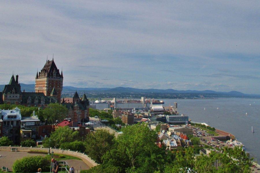 Vieux-Québec et fleuve Saint-Laurent. (© Valérie FORTIER))