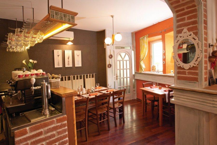SPECIJAL SLOBODNA Trogir, 060314. Interijer Taverne Vanjaka u staroj gradskoj jezgri. Za prilog kuco mala. Foto: Vojko Basic / CROPIX (© RESTAURANT VANJAKA))