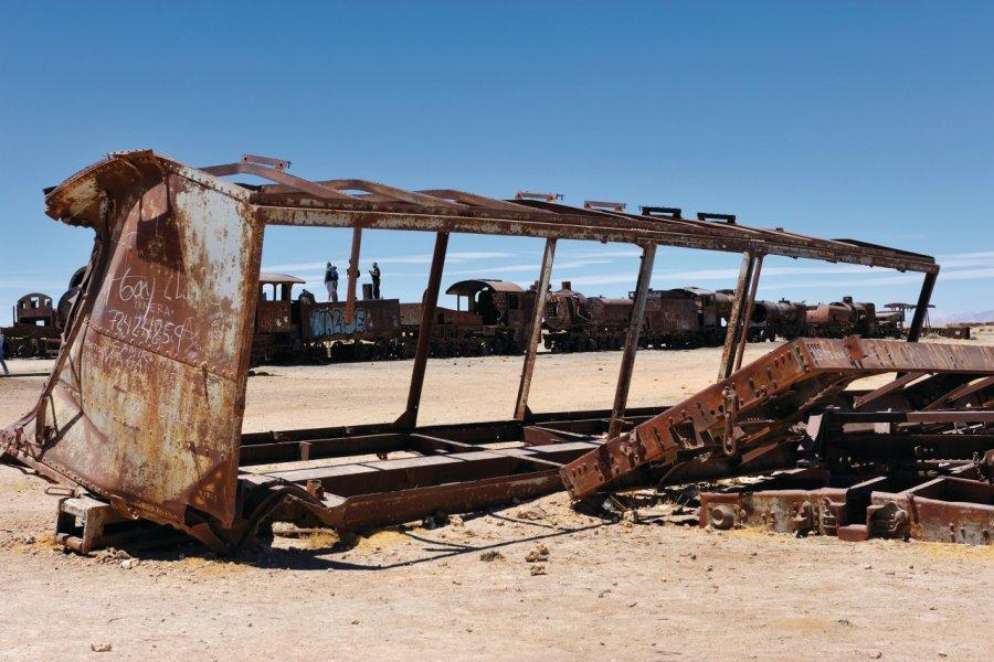 Cimetière ferroviaire près d'Uyuni. (© Patrice ALCARAS))