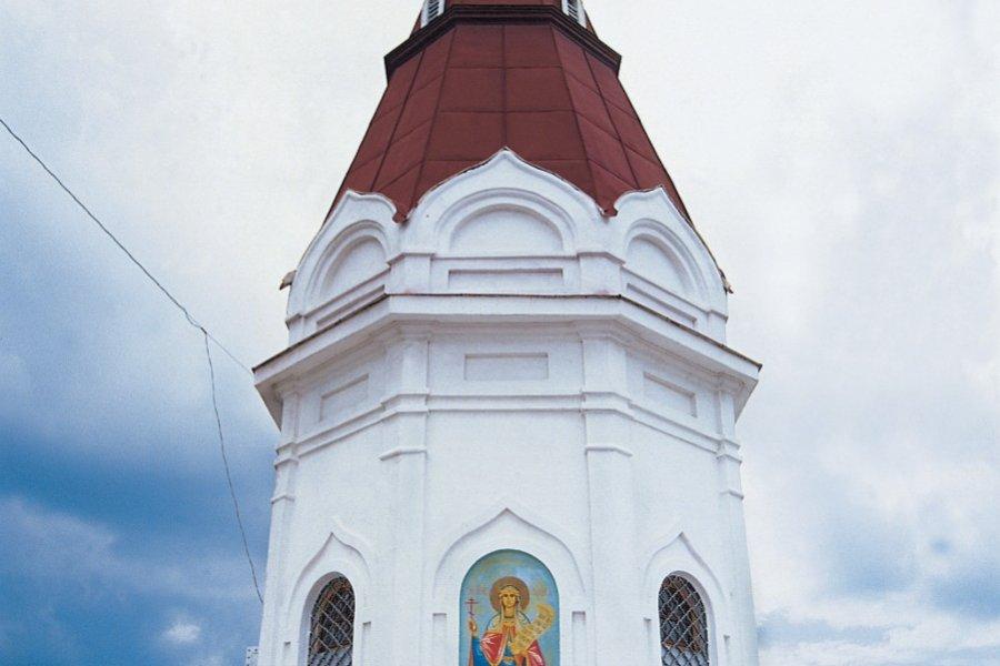 La chapelle Chasovyia, figurant sur le billet de 10 roubles (© Stéphan SZEREMETA))