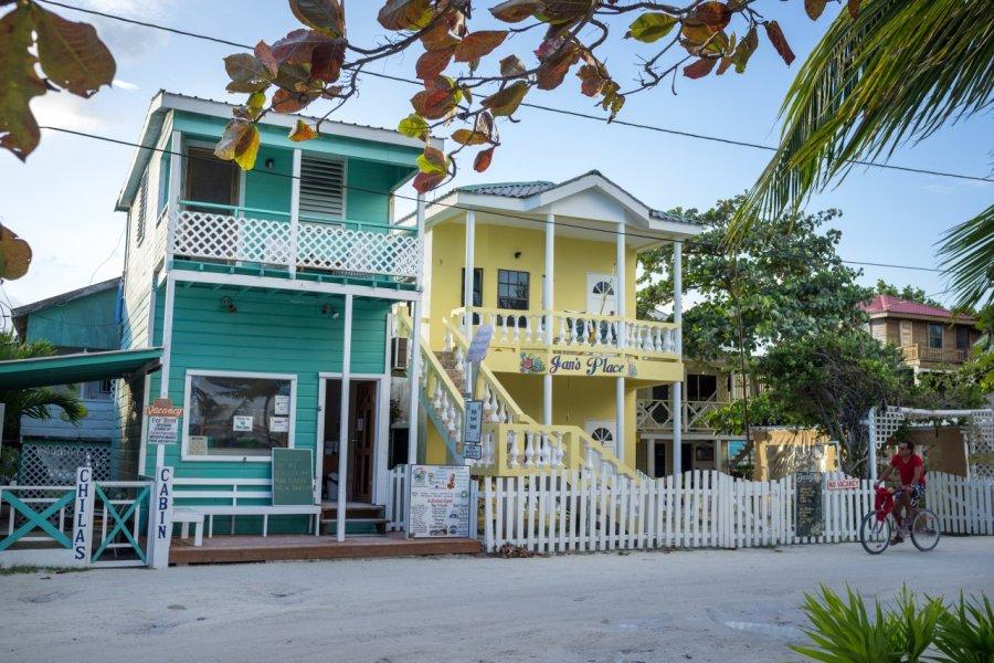 Maisons traditionnelles à Caye Caulker. (© LMspencer - Shutterstock.com))